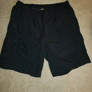 Columbia Men's Black Nylon Cargo Hiking Shorts